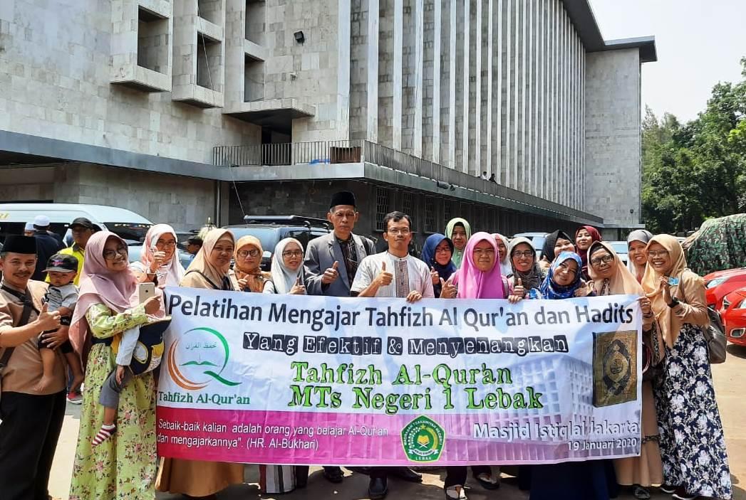 Tahfizh MTsN 1 Lebak Mengikuti Pelatihan Mengajar Tahfizh Al-Qur'an dan Hadits di Masjid Istiqlal Jakarta